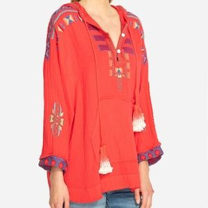 Johnny Was Embroidered Tunic Top Sz S